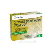 Citrate De Bétaïne Upsa 2 G Comprimés Effervescents Sans Sucre Menthe édulcoré à La Saccharine Sodique T/20 à ANGLET