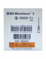BD MICROLANCE 3, G25 5/8, 0,5 mm x 16 mm, orange  à ANGLET