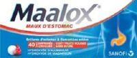 Maalox Maux D'estomac Hydroxyde D'aluminium/hydroxyde De Magnesium 400 Mg/400 Mg Sans Sucre Fruits Rouges, Comprimé à Croquer édulcoré à La Saccharine Sodique, Au Sorbitol Et Au Maltitol à ANGLET