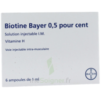 Biotine Bayer 0,5 Pour Cent, Solution Injectable I.m. à ANGLET