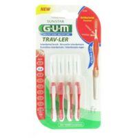 Gum Trav-ler 4 Brossettes Rouge Interdentaires 0.8mm à ANGLET