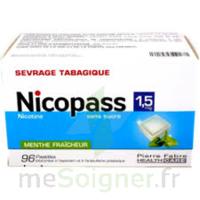 Nicopass 1,5 Mg Pastille Sans Sucre Menthe Fraîcheur Plq/96 à ANGLET