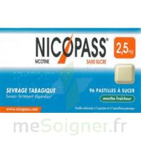 Nicopass 2,5 Mg Pastille Menthe Fraîcheur Sans Sucre Plq/36 à ANGLET