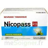 Nicopass 2,5 Mg Pastille Menthe Fraîcheur Sans Sucre Plq/96 à ANGLET