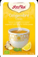 Yogi Tea Tisane Ayurvédique Gingembre Citron Bio 17 Sachets/1,8g à ANGLET
