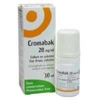 Cromabak 20 Mg/ml, Collyre En Solution à ANGLET