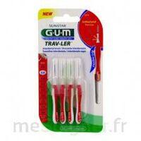 GUM TRAV - LER, 0,8 mm, manche rouge , blister 4 à ANGLET