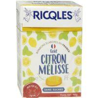 Ricqles Sucres Cuits Bonbon Citron Mélisse Sans Sucre B/40g à ANGLET