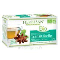 Herbesan Infusion Bio Tisane transit facile 20 Sachets à ANGLET