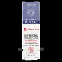Jonzac Eau Thermale Sublimactive Crème soin contour yeux lèvres jeunesse immédiate 15ml à ANGLET