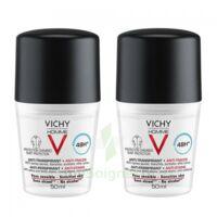 Vichy Homme Déodorant Anti-transpirant Anti Trace 48h 2*billes/50ml à ANGLET
