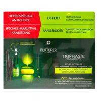 René Furterer Triphasic Progressive Sérum Antichute Coffret 8 Flacons X 5,5ml + Shampoing Stimulant 100 Ml à ANGLET